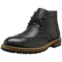 Ben Sherman Mens Clark Leather Wingtip Ankle Boots