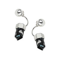 Shard Front And Back Earrings - Blue