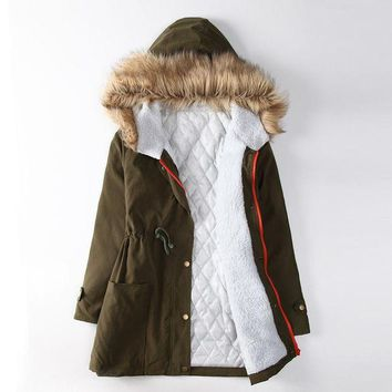 ca DCCKTM4 Women's Fashion Winter Plus Size Hot Sale Thicken Cotton Padded Jacket [26836107271]