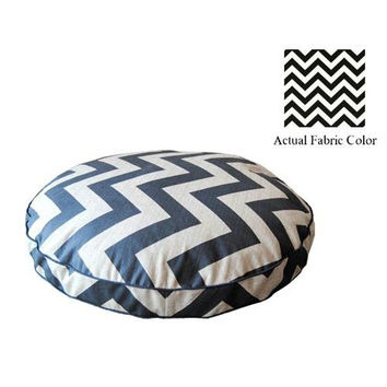 Medium Dog Bed - Black And White Chevron