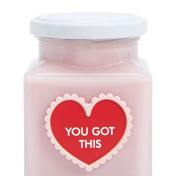 Rose Velvet You Got This Heart Candle