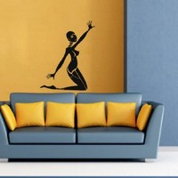 Housewares Wall Vinyl Decal Sticker People African Woman Dance Beauty Salon Interior Home Art Decor Kids Nursery Removable Stylish Sticker Mural Unique Design for Any Room