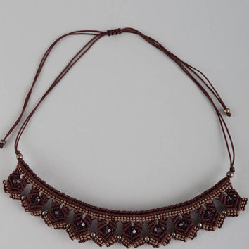 Handmade necklace beaded necklace threads necklace designer accessories