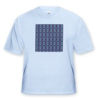 Fuzzy Blanket Tribal Retro Geometric Abstract Pattern Textile - Light Blue Infant Lap-Shoulder Tee (
