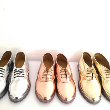Pony Oxfords with Clear Chunky Soles, Vegan