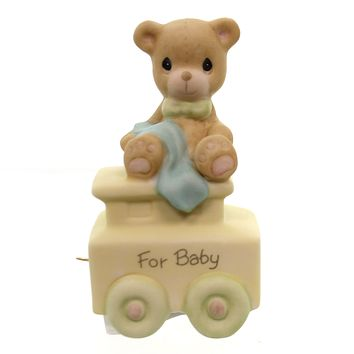Precious Moments FOR BABY BIRTHDAY TRAIN Sam Butcher Teddy Bear 142020