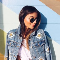 Daisy Patched Denim Jacket
