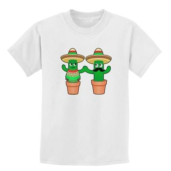 Fiesta Cactus Couple Childrens T-Shirt by TooLoud