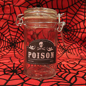 Poison Glass Apothecary Jar - Horror Gothic Spooky Home Decor