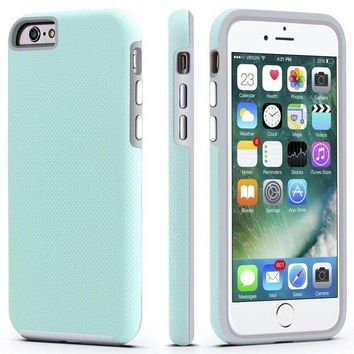 LMFMS6 iPhone 6 / 6s Case, CellEver Dual Guard Protective Shock-Absorbing Scratch-Resistant Rugged Drop Protection Cover for Apple iPhone 6 / 6S (Mint)