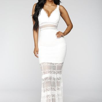 Bianca Lace Dress - Ivory