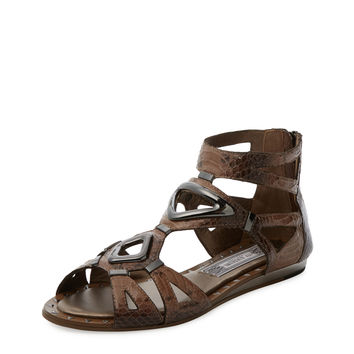Ivy Kirzhner Women's Babylon Flat Sandal - Dark Brown -