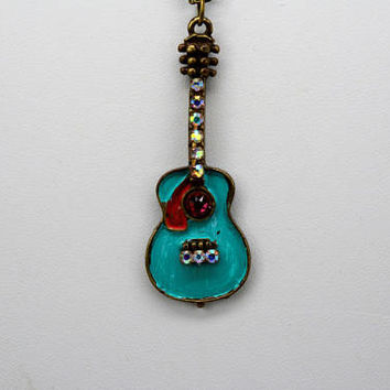 Guitar Pendant, Guitar Necklace, Guitar Jewelry, Music Lover's Necklace, Rock Chick Necklace, Country Singer Necklace