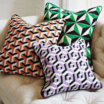 3D BARGELLO DIAMOND STUD THROW PILLOW