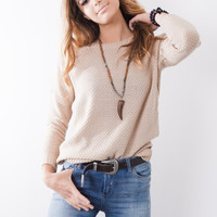 Gab & Kate Saylor Sweater - Taupe