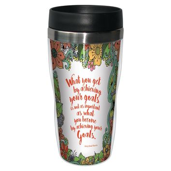 Goals Travel Mug - Premium 16 oz Stainless Lined w/ No Spill Lid