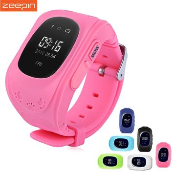 Zeepin Q50 Smart Telephone Watch Kids GPS SOS Call Locator Track Anti-Lost OLED/LCD Baby Safe Monitor for iOS Android Russian