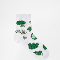ASOS | ASOS Ankle Socks With Get Your Greens at ASOS