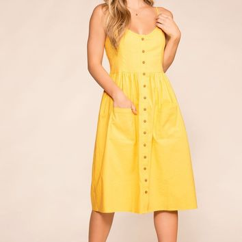 Arlene Honey Button Midi Dress