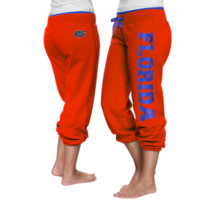 Florida Gators Ladies Glimmer Capri Pants - Orange