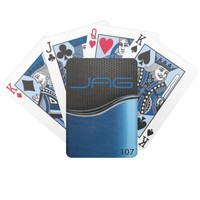 Black Carbon on Metallic Blue Playing Cards