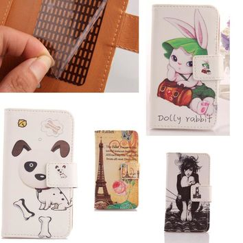 AIYINGE  Cute Cartoon PU Leather Skin Protection Accessories Mobile Phone Shell Wallet Pouch With Card Holder Case For nokia n8