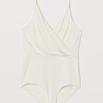 Jersey Bodysuit - Cream - Ladies | H&M US
