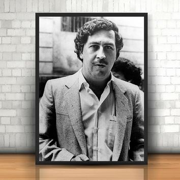 Pablo Escobar Mug Shot 1991 Vertical Wall Art Painting Home Decor Wall Picture Poster