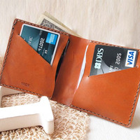 Personalized Leather Bifold Wallet