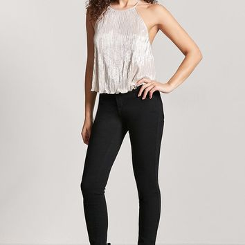 Metallic Ribbed Cami