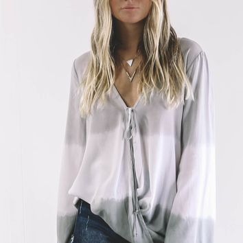 To Feel Loved Grey And Olive Breezy Top