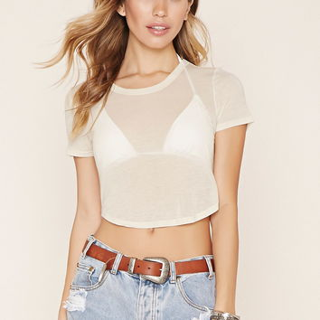 Semi-Sheer Crop Top