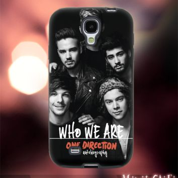 MC12Y,20,one direction,book,who we are -Accessories case cellphone- Design for Samsung Galaxy S5 - Black case - Material Soft Rubber