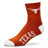 For Bare Feet Texas Longhorns Team Color 1/4-Crew Socks