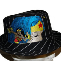Wonder Woman Fedora Bucket Hat