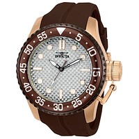 INVICTA Pro Diver Medusa Mens - Brown & Rose-Tone - Glass Fiber Dial - Silicone