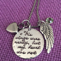Your wings were ready - Memorial Jewelry Dad - Cremation Memorial jewelry - Urn - Remembrance Necklace - Sympathy gift - Memorial Necklace