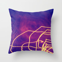 Electric Throw Pillow by Yoshigirl