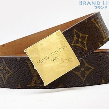 Auth LOUISVUITTON Monogram Saint Tulle Kyare Belt M6800X