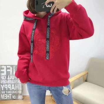 KENZO Woman Men Fashion Embroidery Hoodie Top Sweater Pullover