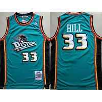 1998-99 Mitchell & Ness 33 Grant Hill Swingman Jersey green