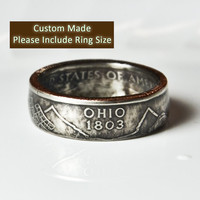Custom Made / Sizes 5-12 / Ohio Coin Ring (Please include size in purchase notes)