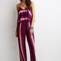 Abstract Stripe Print Jumpsuit