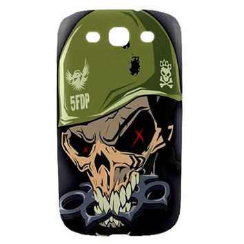 5FDP Five Finger Death Punch Skull Samsung Galaxy S3 S III Hard Case Cover