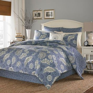 Stone Cottage Avignon 3-pc. Reversible Duvet Cover Set (Blue)