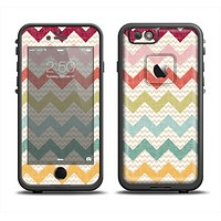 The Vintage Summer Colored Chevron V4 Apple iPhone 6 LifeProof Fre Case Skin Set