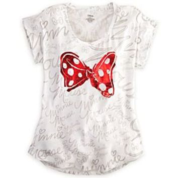 Minnie Mouse Bow Tee for Women | Disney Store