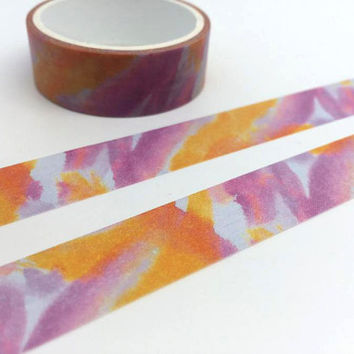 Colorful tape 3M tie dye pattern washi tape orange pink purple mixed pattern sticker tape Japanese Masking tape diary scrapbook gift