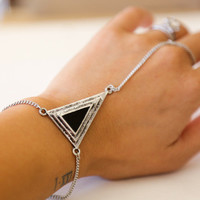Tribal Triple Triangle Bracelet Ring  by Papers & Peonies