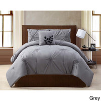 London Pinched Pleat 4-piece Comforter Set